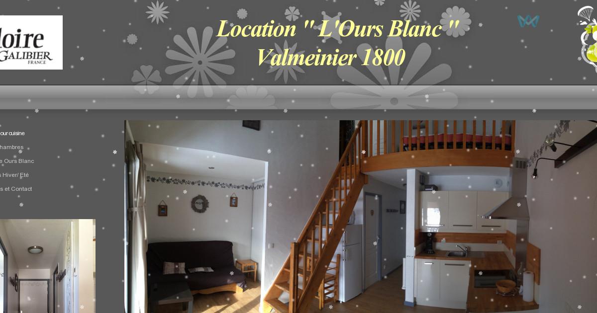 Location valmeinier ours blanc les activit s hiver et - Office du tourisme valmeinier 1800 ...